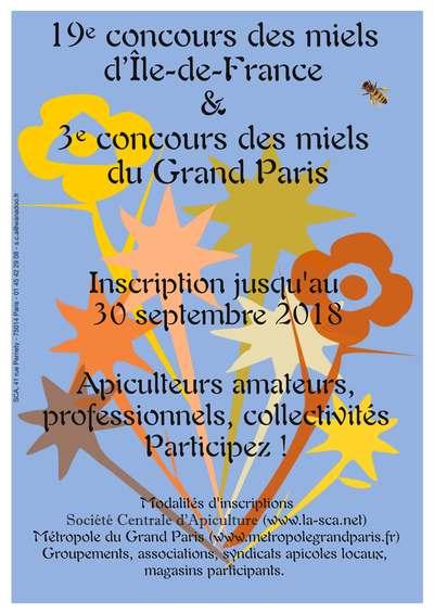 Affiche concours des miels 2018