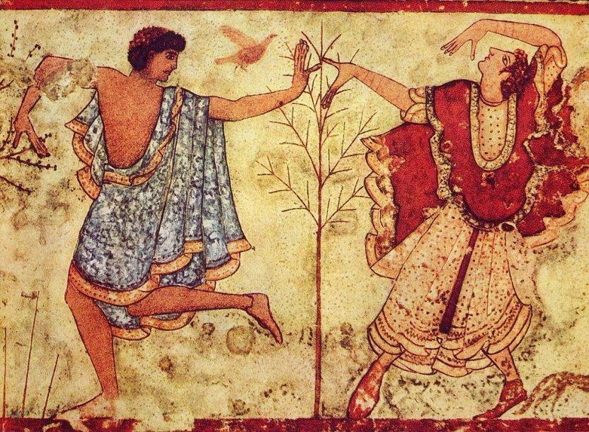 Danseurs étrusques de la tombe du Triclinium (470 av. J.-C.)